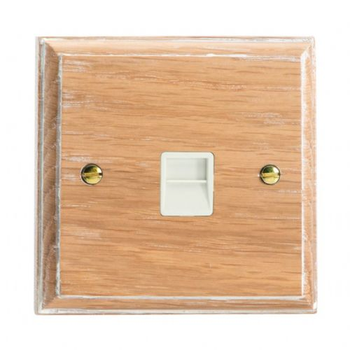 Varilight XKTMLOW Kilnwood Limed Oak 1 Gang Telephone Master Socket